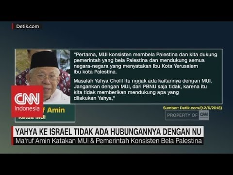 Ketua MUI: Yahya ke Israel Tidak Ada Hubungannya Dengan NU
