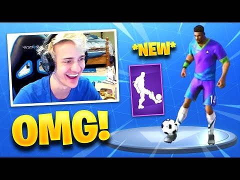 NINJA REACTS *NEW* KICK UPS EMOTE/DANCE! *SOCCER DANCE* – Fortnite Funny Fails & WTF Moments #192