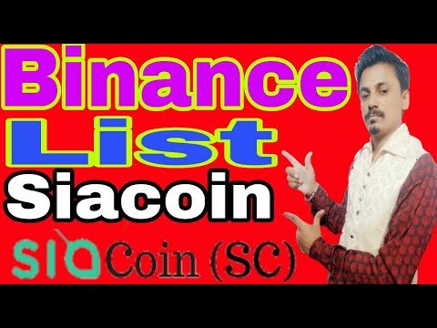 Binance List Siacoin | Get Profit 2x-4x | Being india Crypto Tech