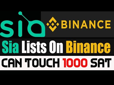 SiaCoin Listed in Binance | Sia Coin Can Touch 3000 SAT Today ? | What you Think ?
