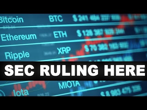 SEC FINALLY BREAKS SILENCE ON CRYPTOCURRENCY | @ethereum @bitcoin @altcoins