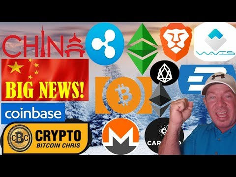 China crypto exchanges!  XRP not used by Banks!  ETH not Security!  EOS is LIVE!