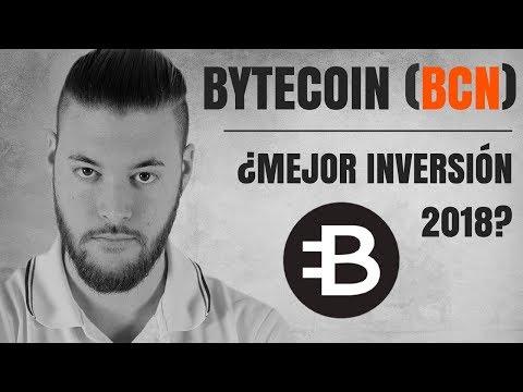 Bytecoin BCN ¿La mejor inversión 2018?