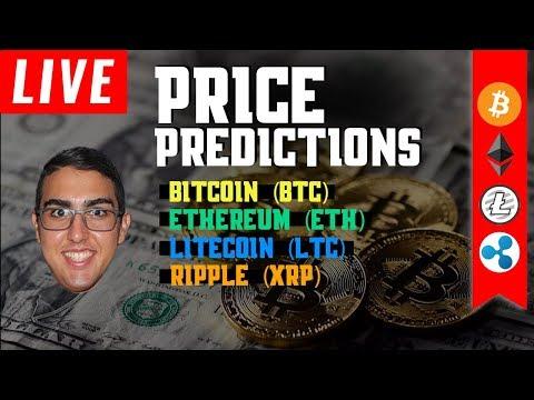 Price Predictions: Bitcoin ($BTC), Litecoin ($LTC), Ripple ($XRP), & Ethereum ($ETH)