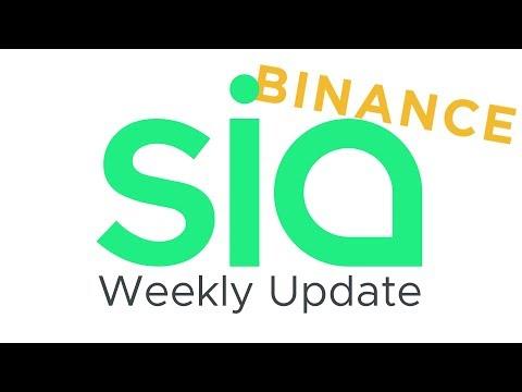 Sia Weekly Update –Week of June 11, 2018