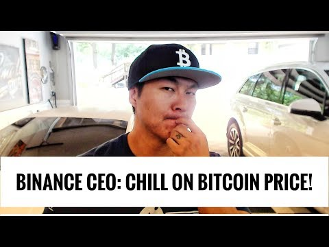 Binance CEO says Chill on the Bitcoin Price – Tis But a Scratch!