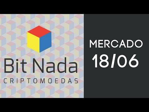Mercado de Cripto! 18/06 Bitcoin / IOTA / Volume caindo mais / Analistas de rede Globo