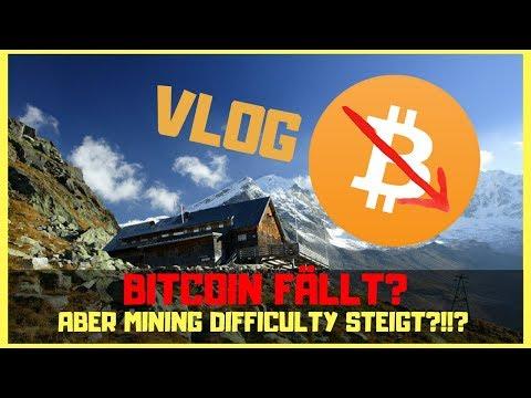 VLOG ► Mining Schwierigkeit steigt ► Bitcoin Preis fällt?