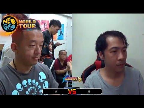 koF 98 – Neo Geo world Tour (Taiwan) [ Final ] // ET (大表鴿) Vs Yang (楊) // FT 3