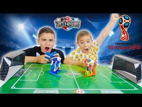 ON JOUE LE MATCH DE LA COUPE DU MONDE AVEC DES ROBOTS !!! –  Tomy Soccerborg