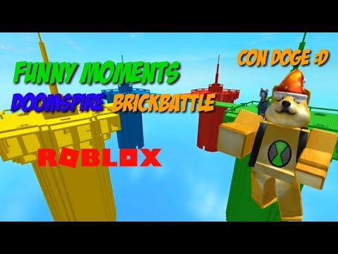 FUNNY MOMENTS – DOOMSPIRE BRICKBATTLE CON DOGE | Roblox