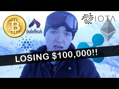 LOSING $100,000+ IN CRYPTOCURRENCY! (MY MISTAKE)