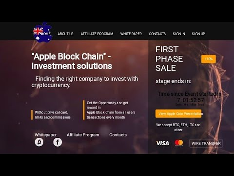 Earn Free apple coin sign up bonus 1500  After 7 days lounch ICO plna Apple coin