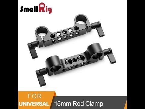 SmallRig Light Weight 15mm Railblock Rod Clamp with 1/4″-20 Thread for Red and Other 15mm DSLR Camer