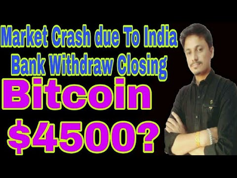 Bitcoin $4500? Cryptocurrency Market Crash | India ban send bank withdraw | Being India Crypto Tech