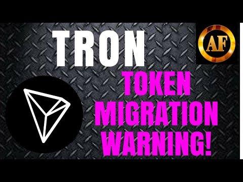 Tron (TRX) – Token Migration Warning! – Price Surge Coming?
