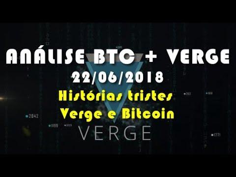 Análise Bitcoin + VERGE – Histórias tristes Verge e Bitcoin