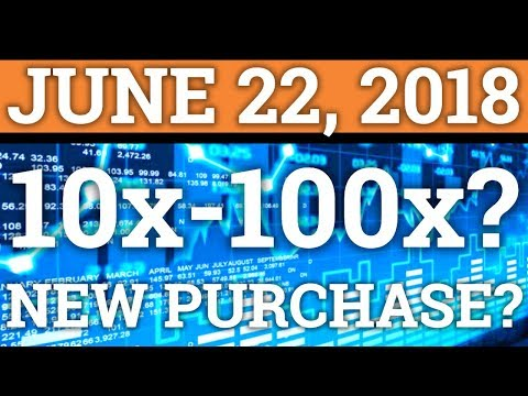 COULD THIS ALTCOIN DO 10x-100x? MY NEW CRYPTOCURRENCY PURCHASE! BITCOIN NEWS + PRICE PREDICTION 2018