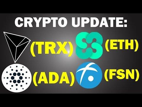 $TRX, $ADA, $FSN, $ETHOS | CRYPTO UPDATE + GIVEAWAY WINNER