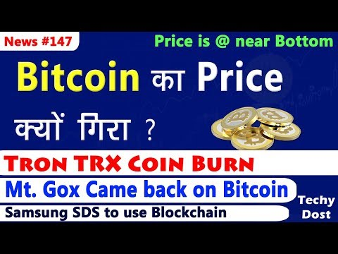 Why Bitcoin Down, Mt. Gox Came back on Bitcoin, Tron TRX Coin Burn