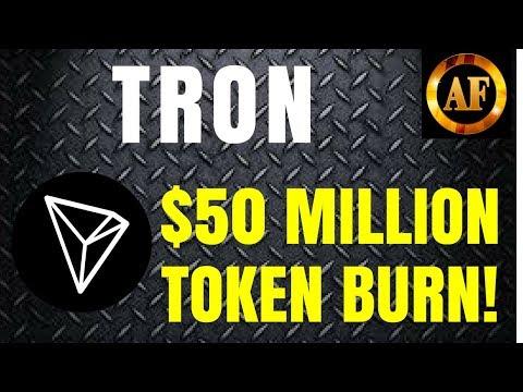 Tron (TRX) – $50 Million Token Burn – Migration Underway!