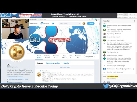 Ripple tells Coinbase to add XRP ? Coinbase & Ripple on same team CKJ Crypto News live stream