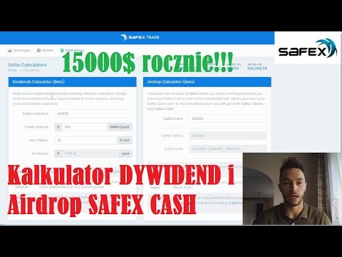 Safex Tokens Jak policzyć DYWIDENDY i Airdrop Safex Cash? Wkrótce BANKOMATY SAFEX!!!