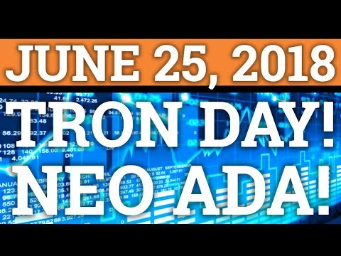TRON TRX DAY! NEO, CARDANO ADA NEWS! BITCOIN BTC PRICE PREDICTION + CRYPTOCURRENCY COIN 2018