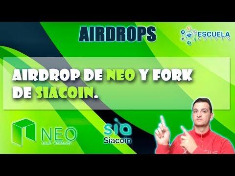 Airdrops │Siacoin y Neo │Para Holders │Escuela Cripto