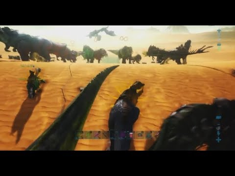 ARK PS4: ADA bringing out the whole allience to wipe a 5 turret 'FOB'