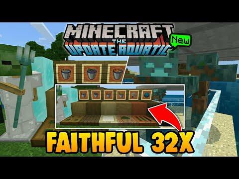 AKHIRNYA!!! FAITHFUL 32 AQUATIC SUDAH ADA DOWNLOAD SEKARANG | Minecraft PE Texture!