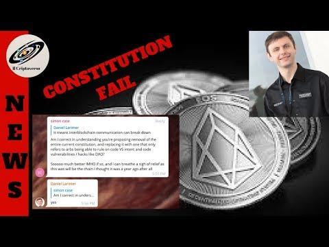 🔴  EOS Fail, Larimer vuole cambiare la costituzione 😲
