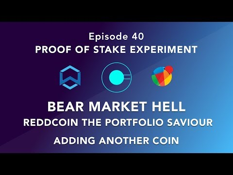 Proof of stake experiment episode 40 – Bear Market hell, Reddcoin the Portfolio saviour + new coin