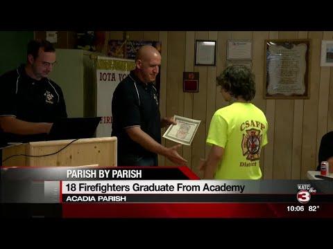 Volunteer firefighters graduate after training in Iota