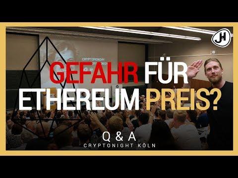 Milliarden-ICO: EOS, Gefahr für Ethereum Preis? | Cryptonight Köln mit Sarazar