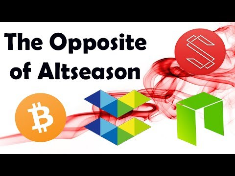 The Opposite of Altseason: $BTC $ELA $NEO $SUB $MAN