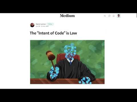 """Intent of Code"" is law – New EOS constitution"
