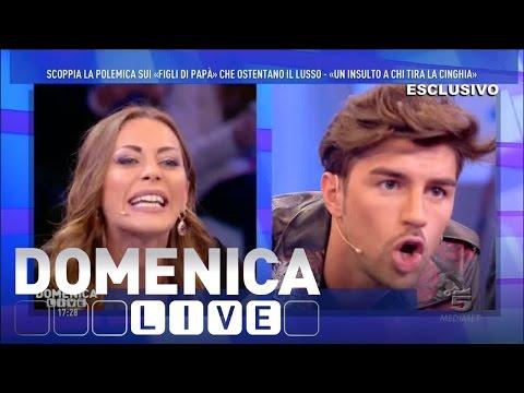 Domenica Live – Lite tra Karina Cascella e Andrea Damante