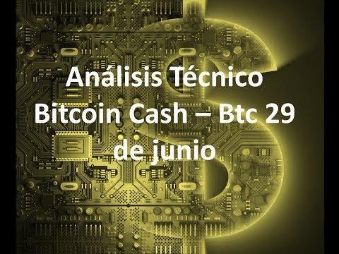 Análisis bitcoin/cash btc 29 de junio – ¿¿Hasta cuando bajara bitcoin??