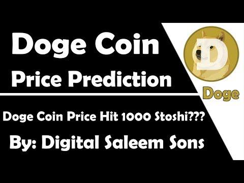 Doge Coin Price Prediction | Price Hit 1000 Stoshi??? | By Digital Saleem Sons