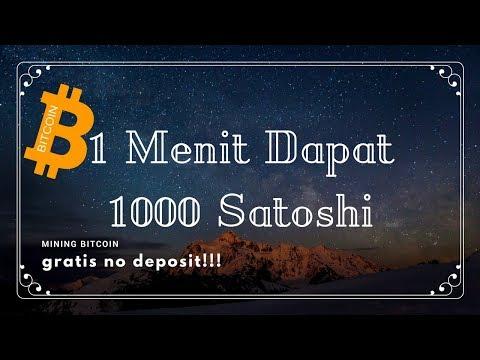 Mining Bitcoin 1000 Satoshi Permenit Tanpa Deposit