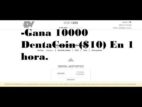 DENTAVOX Tutorial, Que es? y Como ganar Sin Inversion hasta 10000 Dentacoin (DCN) al Dia ($10)