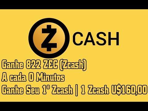 Ganhe 822 ZEC (Zcash) A cada 0 Minutos | Ganhe Seu 1º Zcash  | 1 Zcash U$160,00