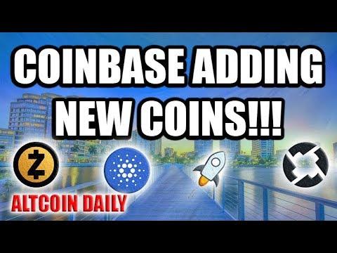 COINBASE ADDING NEW COIN!! [Cardano, Basic Attention Token, Stellar Lumen, 0x, Zcash]