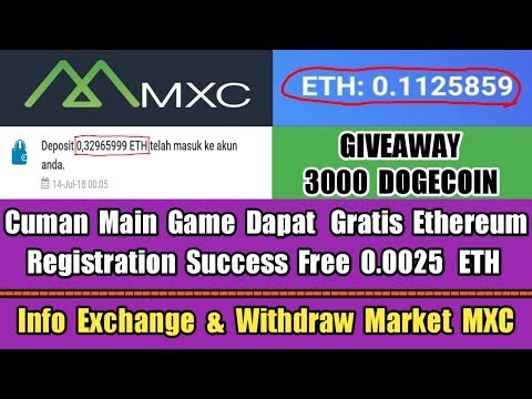 Baca Deskripsi Free ETH Market MXC & Giveaway 3000 DOGE