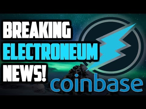 HUGE ELECTRONEUM NEWS! COINBASE ADDS 5 NEW CRYPTOCURRENCIES?