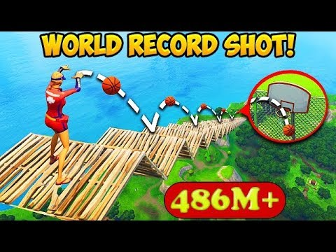 *MAX HEIGHT* BASKETBALL SHOT RECORD! (486M) – Fortnite Funny Fails and WTF Moments! #257