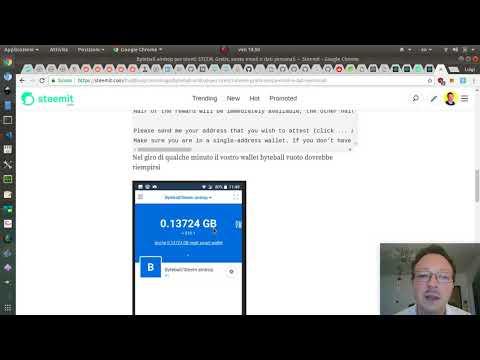 Airdrop della criptovaluta Byteball per account STEEM / Steemit