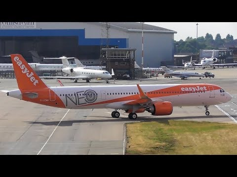 Delivery flight! Easyjet's first Airbus A321 NEO landing at Luton Airport | 13-07-18