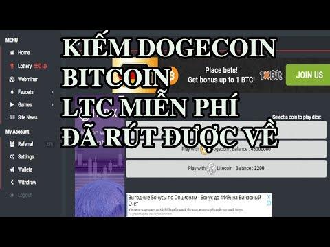 Web kiếm Bitcoin, dogecoin, LTC hoàn toàn miễn phí với 2 phút claim nhận 20s BTC